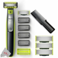 Philips Norelco Oneblade Face Electric Trimmer + 3 Replacement Blades And Comb - 1