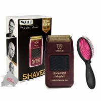 Wahl Professional 5-star Series Rechargeable Shaver/shaper + Pink Wet Brush