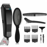 Conair Simple Cut Hc93w Hair Clipper Kit Trimmer + Detangling Brush Bwp824-grey - 1