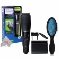 Philips Norelco Beard Trimmer Bt3210/41 + Detangling Brush Bwp824-blue - 1