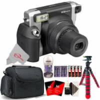 Fujifilm Instax Wide 300 Instant Film Camera +4 Recharge Batteries+ Flex Tripod