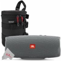 Jbl Charge 4 Portable Bluetooth Speaker Gray Stone + Case