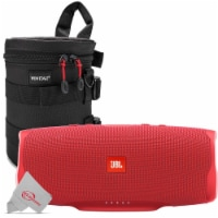 Jbl Charge 4 Portable Bluetooth Speaker Red + Case
