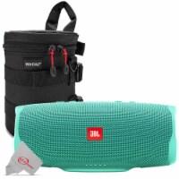 Jbl Charge 4 Portable Bluetooth Speaker Teal + Case