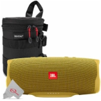 Jbl Charge 4 Portable Bluetooth Speaker Yellow + Case