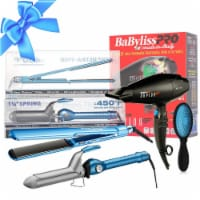 Babyliss Beauty Gift Set Hair Dryer Blower Flat Iron Curling Iron And Wet Brush - 1