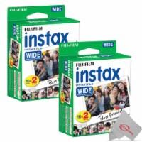 Fujifilm Instax Wide 300 Instant Film Camera + 2 Pack Instax Wide 2x10 Film Kit