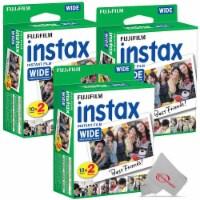 Fujifilm Instax Wide 300 Instant Film Camera + 3 Pack Instax Wide 2x10 Film Kit