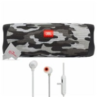 Jbl Flip 5 Portable Bluetooth Speaker Camouflage With Wireless In-ear Headphones - 1