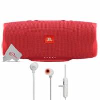 Jbl Charge 4 Portable Bluetooth Speaker Red + Jbl Tune 110bt Wireless In-ear Headphones
