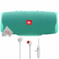 Jbl Charge 4 Portable Bluetooth Speaker Teal + Jbl Tune 110bt Wireless In-ear Headphones