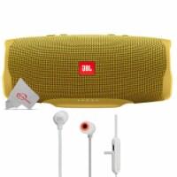 Jbl Charge 4 Portable Bluetooth Speaker Yellow + Jbl Tune 110bt Wireless In-ear Headphones