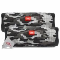 Two Pack Jbl Flip 5 Waterproof Portable Partyboost Bluetooth Speaker - Camouflage - 1