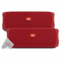 Two Pack Jbl Flip 5 Waterproof Portable Partyboost Bluetooth Speaker - Red - 1