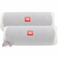Two Pack Jbl Flip 5 Waterproof Portable Partyboost Bluetooth Speaker - White - 1