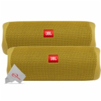 Two Pack Jbl Flip 5 Waterproof Portable Partyboost Bluetooth Speaker - Yellow - 1