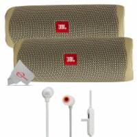 Two Pieces Jbl Flip 5 Portable Bluetooth Speaker - Sand + Wireless Headphones - 1