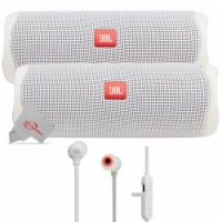 Two Pieces Jbl Flip 5 Portable Bluetooth Speaker - White + Wireless Headphones - 1