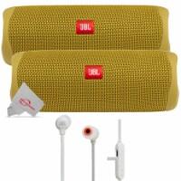 Two Pieces Jbl Flip 5 Portable Bluetooth Speaker - Yellow + Wireless Headphones - 1