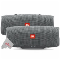 Two Pieces Jbl Charge 4 Portable Bluetooth Speaker Gray Stone