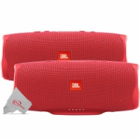 Two Pieces Jbl Charge 4 Portable Bluetooth Speaker Red