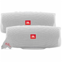 Two Pieces Jbl Charge 4 Portable Bluetooth Speaker White - 1