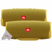 Two Pieces Jbl Charge 4 Portable Bluetooth Speaker Yellow