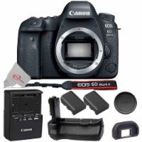 Canon Eos 6d Mark Ii 26.2mp D-slr Camera (body Only) With Extra Battery And Battery Grip - 1