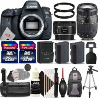 Canon Eos 6d Mark Ii 26.2mp D-slr Camera With 50mm 1.8 Stm + 70-300mm Lens Accessory Kit