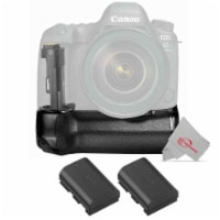 Vivitar Battery Power Grip And Two Replacement Lp-e6 Battery Pack For Canon 6d Mark Ii Camera