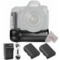 Vivitar Battery Power Grip And Two Replacement Lp-e6 Battery & Charger For Canon 6d Mark Ii - 1