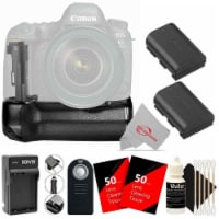 Vivitar Battery Power Grip And Two Lp-e6 Battery Accessory Kit For Canon 6d Mii