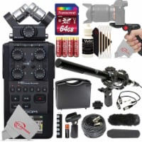 Zoom H6 All Black (2020 Version) 6-track Portable Recorder With 64gb Top Accessory Kit - 1
