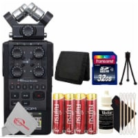 Zoom H6 All Black (2020 Version) 6-track Portable Recorder With 32gb Top Accessory Kit - 1