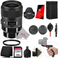 Sigma 35mm F/1.4 Dg Hsm Art Lens 340965 For Sony E With Uv Filter With 128gb Accessory Kit - 1