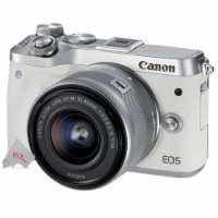 Canon Eos M6 Mirrorless Digital Camera With 15-45mm Lens White / Silver