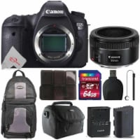 Canon Eos 6d Built-in Wi-fi Digital Slr Camera With 50mm F/1.8stm Lens Accessory Kit - 1