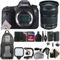 Canon Eos 6d Built-in Wi-fi Digital Slr Camera With Ef 24-105mm Is Stm Lens Accessory Kit