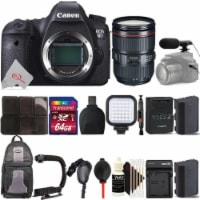 Canon Eos 6d Dslr Camera With Canon 24-105 F/4l Is Ii Usm Lens Top Accessory Kit