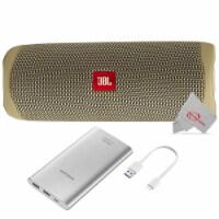 Jbl Flip 5 Portable Waterproof Bluetooth Speaker - Sand With Samsung 10000mah Power Bank