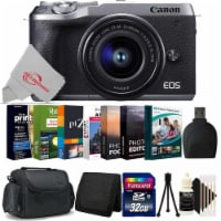 Canon Eos M6 Mark Ii Mirrorless Camera Silver With 15-45mm + 32gb Accessory Kit - 1