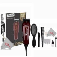 Wahl 8110 Professional 5-star Balding Clipper Red + Detangling Wet Brush - 1