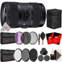 Sigma 18-35mm F/1.8 Dc Hsm Art Lens + Filter Accessory Kit For Canon Ef