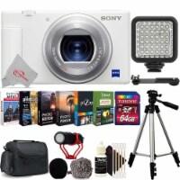 Sony Zv-1 Built-in Wi-fi Digital Camera White + 64gb Accessory Kit - 1