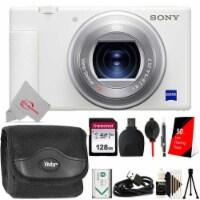Sony Zv-1 Built-in Wi-fi Digital Camera White + 128gb Accessory Kit