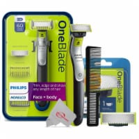 Philips Norelco Oneblade Electric Trimmer With Replacement Blade + Wahl Comb - 1