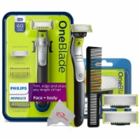 Philips Norelco Oneblade Electric Trimmer With Two Replacement Blade + Wahl Comb - 1