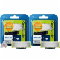 Two Packs Philips Norelco Qptwo 10/80 Oneblade Replacement Head For Qp2520 /qp6510 /qp6520 - 1