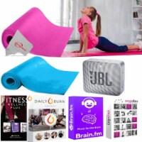5mm Non Slip Exercise Yoga Pilates Mat Fitness Pad + Speaker And Online Training - 1