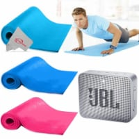 3 5mm Extra Thick Durable Exercise Fitness Non Slip Yoga Pilates Pad Roll Up Mat